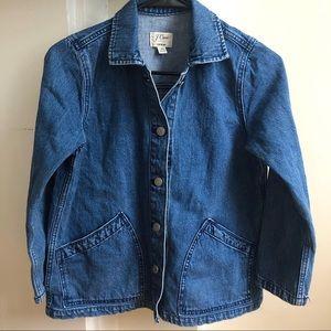 Jcrew Denim Shirt Jacket